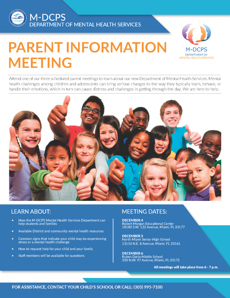 MentalHealth Flyer Parent Meeting