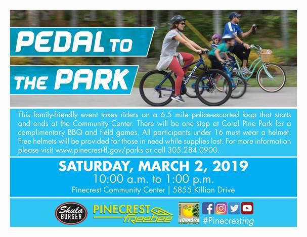 Pedal to the Park @ Pinecrest Community Center