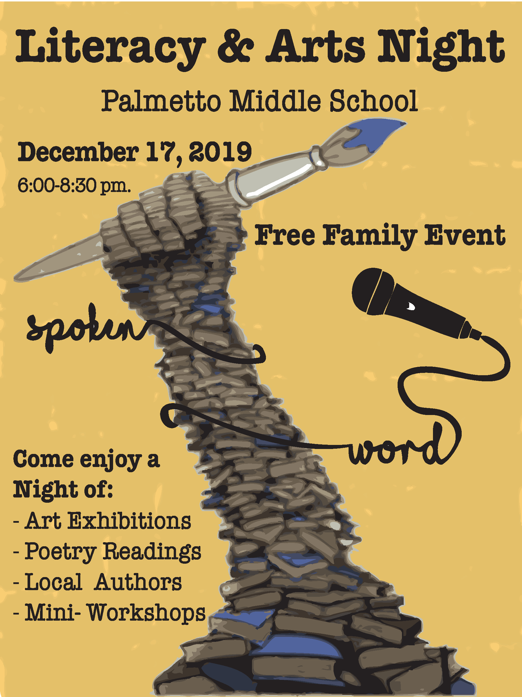 Literacy & Arts Night @ Palmetto Middle School